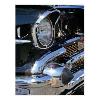 「57 Chevyのヘッドライト-郵便はがき ポストカード