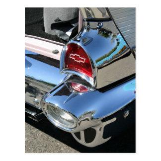 「57 Chevyの尾ライトの郵便はがき ポストカード