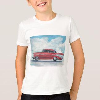 57 CHEVYの赤 Tシャツ