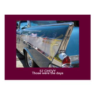 """57 CHEVYは""""それら日""""の郵便はがきでした はがき"""