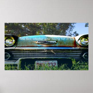 「57 Chevy -よく古い日 ポスター