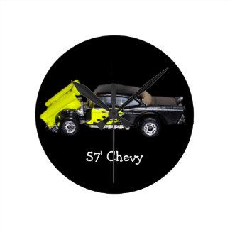 57' Chevy -円形の柱時計 時計