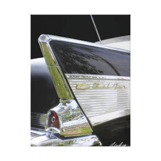 "「57 Chevy Bel Air ""ひれ"" キャンバスプリント"
