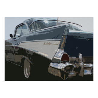 57 Chevy Bel Air プリント