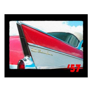 57 Chevy Bel Air ポストカード