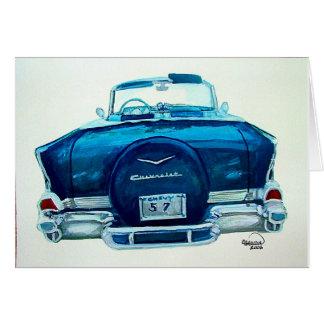57 Chevy Belaire グリーティングカード