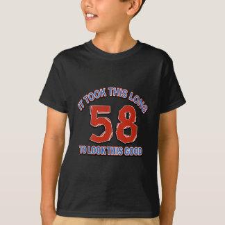 58の誕生日のデザイン Tシャツ