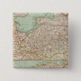 58東のプロシア、バルト諸国 5.1CM 正方形バッジ