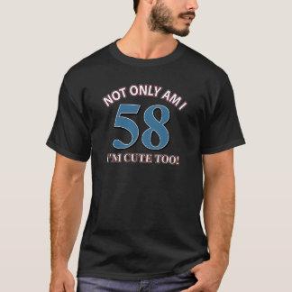 58歳の誕生日のデザイン Tシャツ