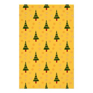 586かわいいクリスマスツリーおよび雪片pattern.jpg 便箋