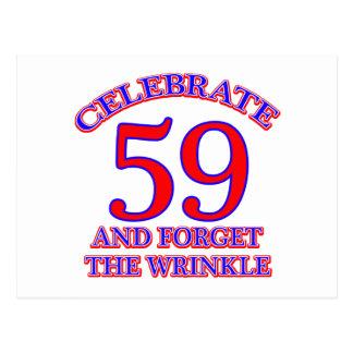 59の誕生日のデザイン ポストカード