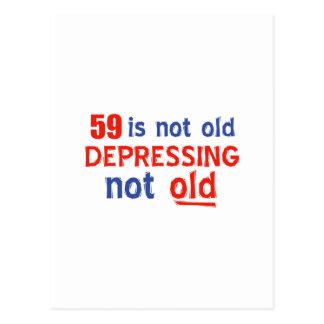 59歳の誕生日のデザイン ポストカード