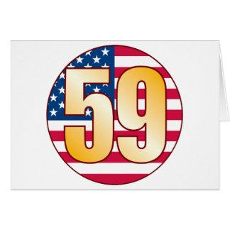 59米国の金ゴールド カード
