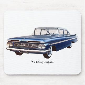 「59 Chevyのインパラのマウスパッド マウスパッド