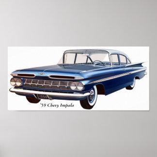 「59 Chevyのインパラ ポスター
