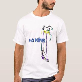 5-0よじれの抽象的なスケート選手 Tシャツ