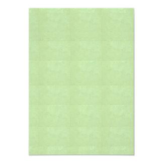 "5"" x 7""招待状BASIC: 水晶輝きの緑 カード"