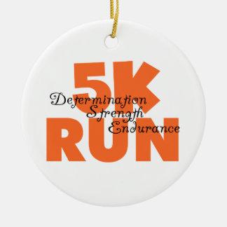 5Kはオレンジを走ります セラミックオーナメント