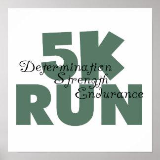 5Kは緑にスポーツの走を走ります ポスター