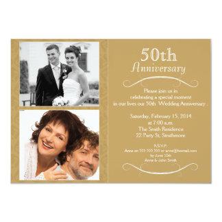 5oth結婚記念日の招待状 11.4 x 15.9 インビテーションカード