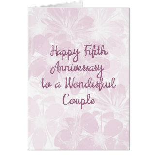 5th Wedding Anniversary Card Lavender Flowers カード