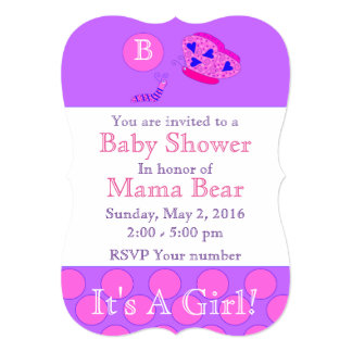 5x7それは女の子の蝶ベビーシャワーの招待状です カード