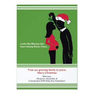 5x7クリスマスの妊娠の発表カード-お母さん カード