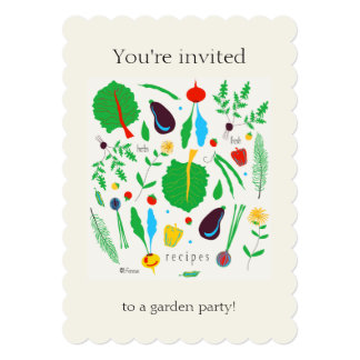 5x7招待状によってスカラップで仕上げられる夏のパーティー 12.7 x 17.8 インビテーションカード