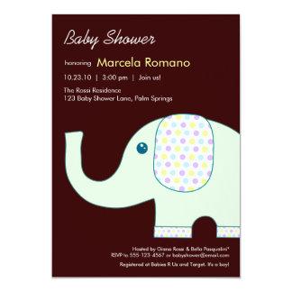 5x7象のベビーシャワー招待状 カード