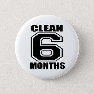 6か月は黒をきれいにします 缶バッジ
