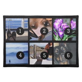 6つのイメージとあなた自身の写真のスタイルを作成して下さい ランチョンマット