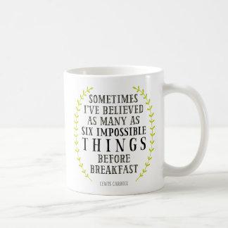 6つの不可能な事の引用文のマグ コーヒーマグカップ