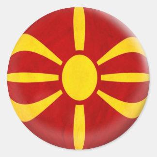 6つの大きいステッカーのマケドニアのマケドニア人の旗 ラウンドシール