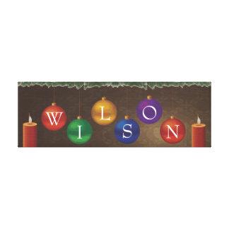 6つの手紙の名字のクリスマスの壁の芸術 キャンバスプリント