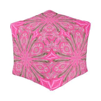6つの花びらの抽象芸術ピンクのPoufの座席 プーフ