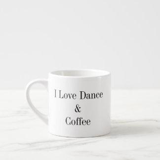 6つのoz。 エスプレッソのマグ- I愛ダンス及びコーヒー エスプレッソカップ