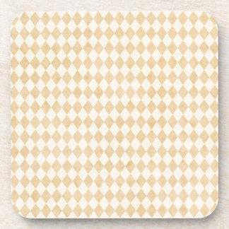 6の小さい淡黄色の柔らかい白人の道化師のバックセット コースター