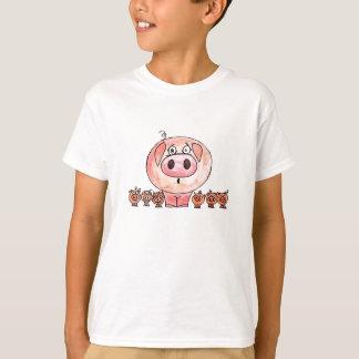 6匹の小さいブタ Tシャツ