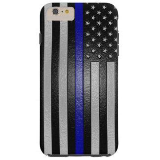 6場合とブルーライン旗によって研がれるiPhoneを薄くして下さい Tough iPhone 6 Plus ケース