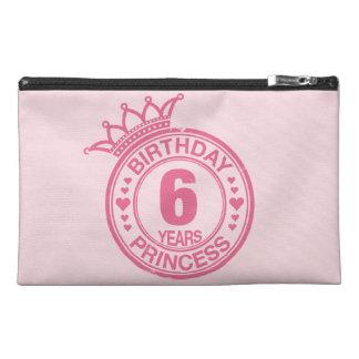 6年-誕生日のプリンセス-ピンク トラベルアクセサリーバッグ