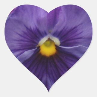 6最も青く青い紫色のパンジー ハートシール