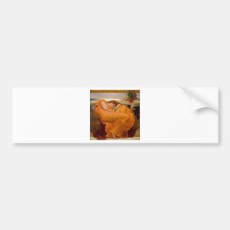 6月燃え立つヴィンテージの芸術カード絵画 バンパーステッカー