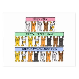 6月29日の誕生日猫 ポストカード