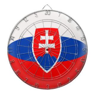 6本の投げ矢のスロバキアのスロバキアの旗が付いているダート盤 ダーツボード