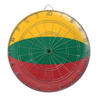 6本の投げ矢のリスアニアのリトアニア人の旗が付いているダート盤 ダーツボード