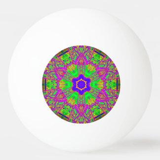 6点の星の青い紫色の緑 卓球ボール