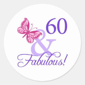 60そしてすばらしい誕生日 ラウンドシール
