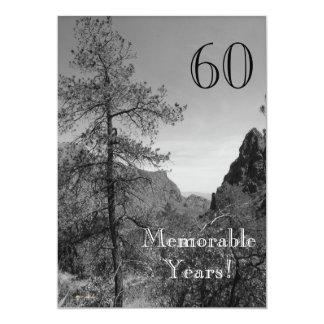 60の重大な年か誕生日のお祝い自然 カード