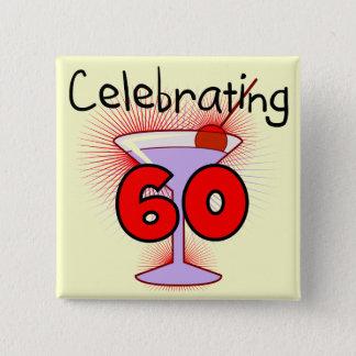 60個のTシャツおよびギフトを祝うカクテル 5.1CM 正方形バッジ