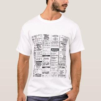 60年代のギグのリスト Tシャツ